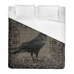 Vintage Halloween Raven Duvet Cover (full/ Double Size)