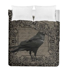 Vintage Halloween Raven Duvet Cover Double Side (full/ Double Size)