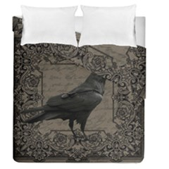 Vintage Halloween Raven Duvet Cover Double Side (queen Size)