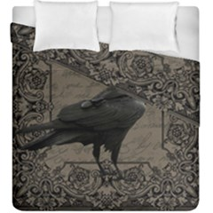 Vintage Halloween Raven Duvet Cover Double Side (king Size)
