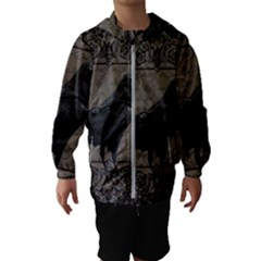 Vintage Halloween Raven Hooded Wind Breaker (kids)