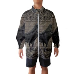 Vintage Halloween Raven Wind Breaker (kids)
