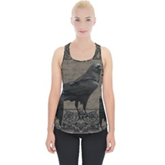 Vintage Halloween Raven Piece Up Tank Top