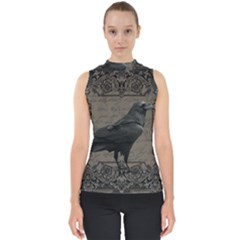 Vintage Halloween Raven Shell Top