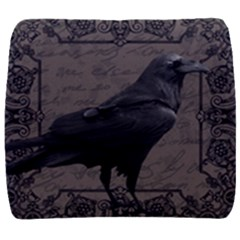 Vintage Halloween Raven Back Support Cushion