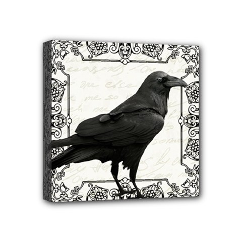 Vintage Halloween Raven Mini Canvas 4  X 4