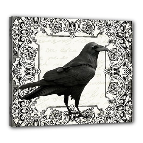 Vintage Halloween Raven Canvas 24  X 20