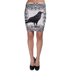 Vintage Halloween Raven Bodycon Skirt