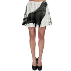 Vintage Halloween Raven Skater Skirt