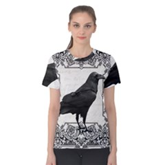 Vintage Halloween Raven Women s Cotton Tee
