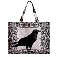 Vintage Halloween Raven Mini Tote Bag