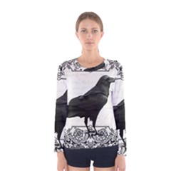 Vintage Halloween Raven Women s Long Sleeve Tee