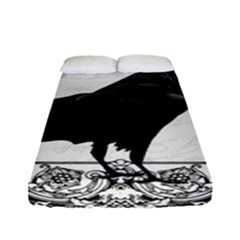 Vintage Halloween Raven Fitted Sheet (full/ Double Size)