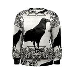 Vintage Halloween Raven Women s Sweatshirt