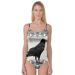 Vintage Halloween Raven Camisole Leotard