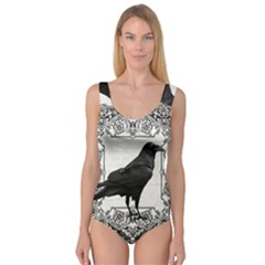 Vintage Halloween Raven Princess Tank Leotard