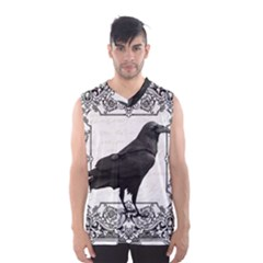Vintage Halloween Raven Men s Basketball Tank Top