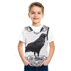 Vintage Halloween Raven Kids  Sportswear