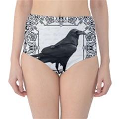 Vintage Halloween Raven High Waist Bikini Bottoms