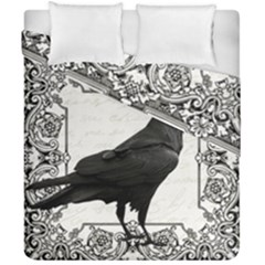 Vintage Halloween Raven Duvet Cover Double Side (california King Size)