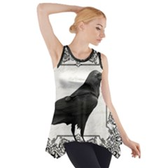 Vintage Halloween Raven Side Drop Tank Tunic