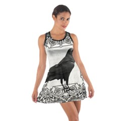 Vintage Halloween Raven Cotton Racerback Dress