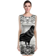 Vintage Halloween Raven Classic Sleeveless Midi Dress