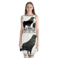 Vintage Halloween Raven Sleeveless Chiffon Dress