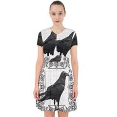 Vintage Halloween Raven Adorable In Chiffon Dress