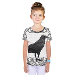 Vintage Halloween Raven Kids  One Piece Tee