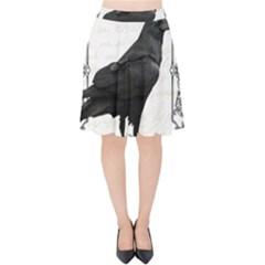 Vintage Halloween Raven Velvet High Waist Skirt
