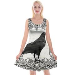 Vintage Halloween Raven Reversible Velvet Sleeveless Dress
