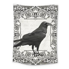 Vintage Halloween Raven Medium Tapestry