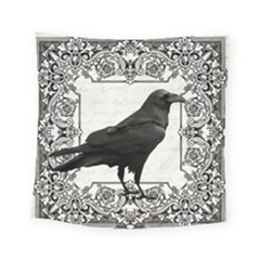 Vintage Halloween Raven Square Tapestry (small)
