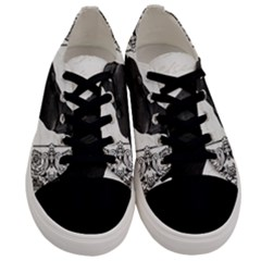 Vintage Halloween Raven Men s Low Top Canvas Sneakers