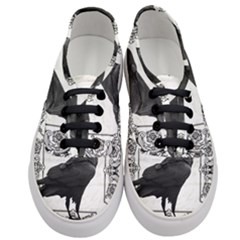 Vintage Halloween Raven Women s Classic Low Top Sneakers