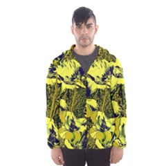 Amazing Glowing Flowers 2c Hooded Wind Breaker (men)