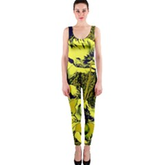 Amazing Glowing Flowers 2c Onepiece Catsuit