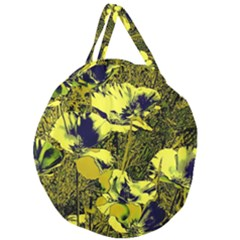 Amazing Glowing Flowers 2c Giant Round Zipper Tote