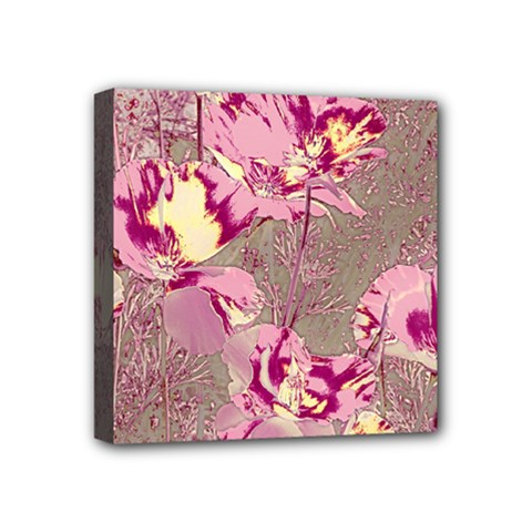 Amazing Glowing Flowers 2b Mini Canvas 4  X 4