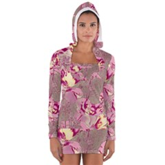 Amazing Glowing Flowers 2b Long Sleeve Hooded T Shirt