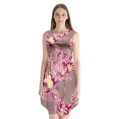 Amazing Glowing Flowers 2b Sleeveless Chiffon Dress