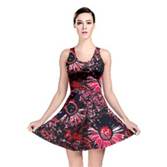 Amazing Glowing Flowers C Reversible Skater Dress