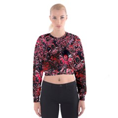 Amazing Glowing Flowers C Cropped Sweatshirt