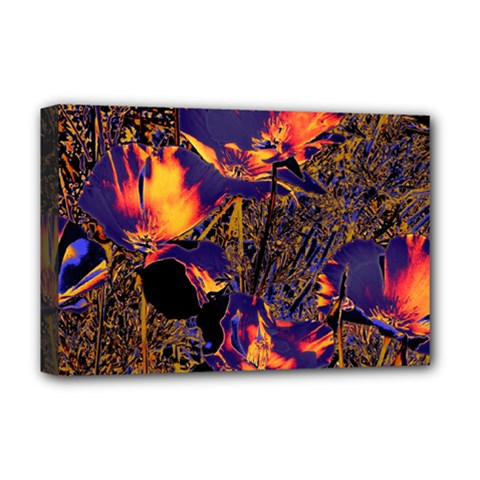 Amazing Glowing Flowers 2a Deluxe Canvas 18  X 12