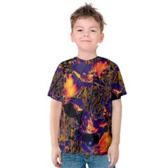 Amazing Glowing Flowers 2a Kids  Cotton Tee