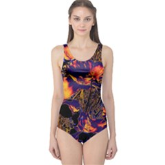 Amazing Glowing Flowers 2a One Piece Swimsuit
