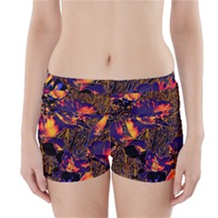 Amazing Glowing Flowers 2a Boyleg Bikini Wrap Bottoms