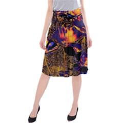 Amazing Glowing Flowers 2a Midi Beach Skirt