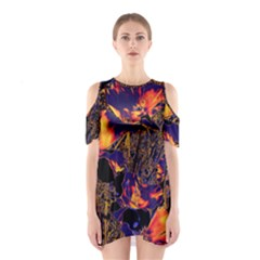 Amazing Glowing Flowers 2a Shoulder Cutout One Piece